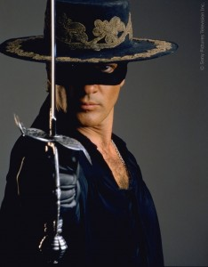 Our friend Antonio Banderas in The Mask of Zorro 1998. Picture: Sony Pictures TV. Inc.