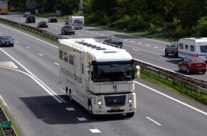 Horse transport on the road